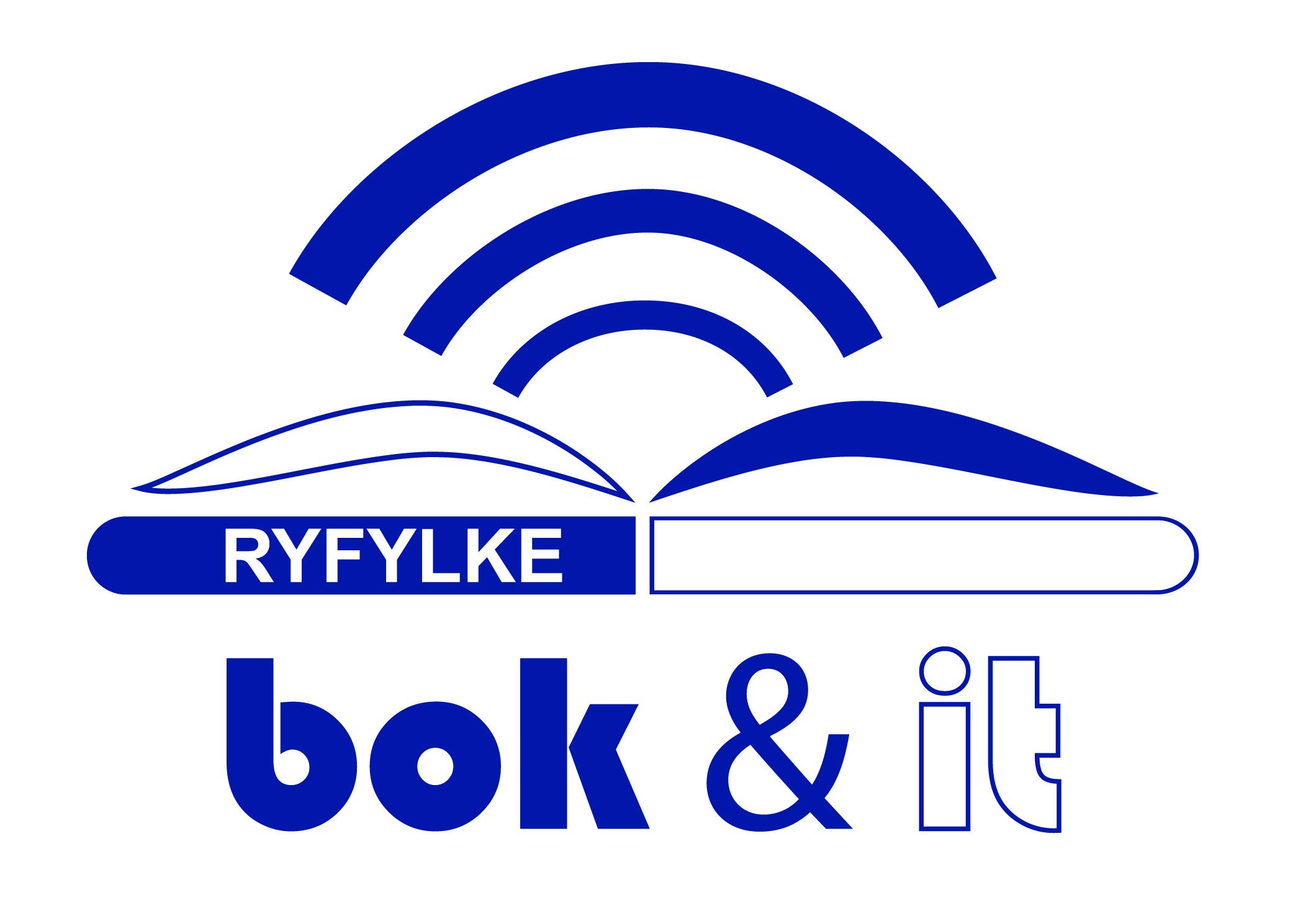 Ryfylke Bok og IT logo